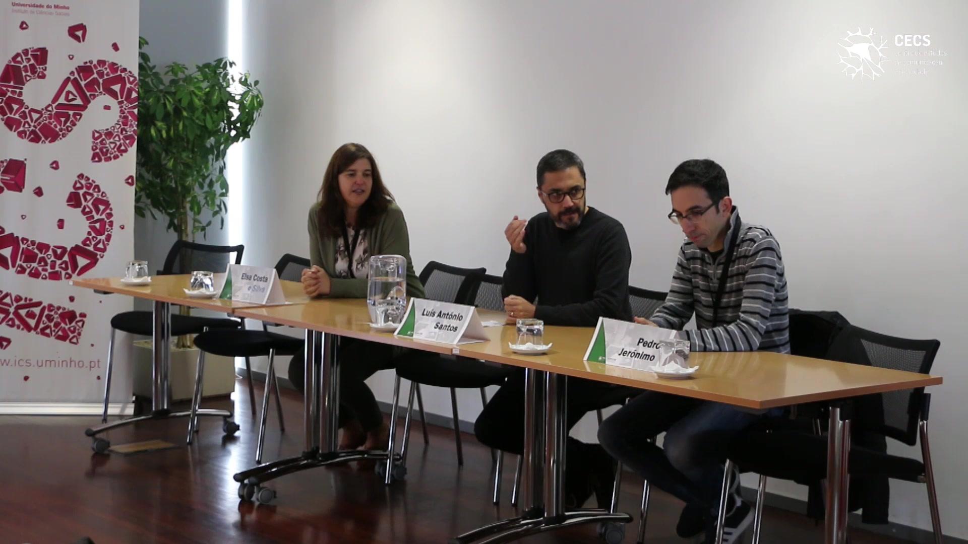 """Encontro """"Fronteiras do jornalismo e modelos de negócio: constrangimentos e sustentabilidade"""""""